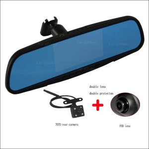 BigBigRoad For mazda 6 8 atenza Car Mirror DVR dual lens camera Video Recorder Dash Cam Parking Monitor with Original Bracket