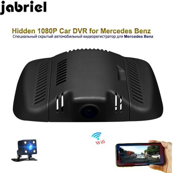 Jabriel auto 1080P wifi hidden car dvr dash cam dual lens car driving recorder for 2015 Mercedes Benz GLK300 GLK260 GLK350 X204
