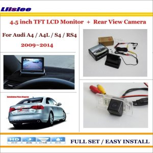 """Liislee For Audi A4 / A4L / S4 / RS4 2009~2014 - Car Reverse Backup Rear Camera + 4.3"""" TFT LCD Screen = 2 in 1 Parking System"""