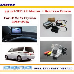 """Liislee For Honda Elysion 2012~2015 In Car 4.3"""" Color LCD Monitor + Car Rear Back Up Camera = 2 in 1 Park Parking System"""