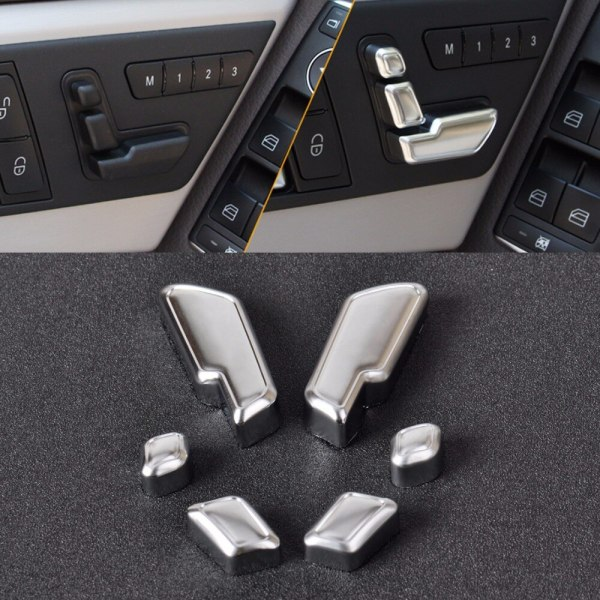Chrome Door Seat Adjust Button Switch Cover Trim for Mercedes Benz E GL CLS Class