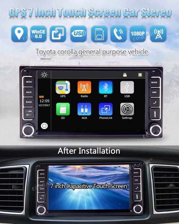 Toyota Corolla Dash Cam Multi-Touchscreen GPS Navigation Free Camera 2 Din In Dash Car Radio 5 points Multi-Touchscreen GPS Navigation Car MP5 Player Headunits For Toyota Corolla