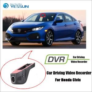 YESSUN for Honda Civic Car Driving Video Recorder DVR Mini Control APP Wifi Camera Registrator Dash Cam Original Style