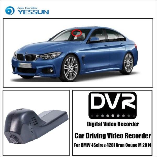 YESSUN for BMW 4 Seires 428i Gran Coupe M 2014 Car Dvr Mini Wifi Camera Full Driving Recorder Car Dash Cam Video Recorder