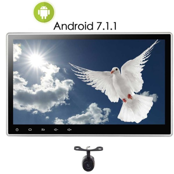 10.1 Inch Android 7.1 Nougat OS 2GB Double Din Car Stereo 2 Din In Dash Car Radio with Bluetooth, GPS Navigation, Backup Camera