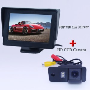 "Use for original set include 4.3"" lcd car screen monitor with car rearview camera 170 lens angle apply for Audi A6L"