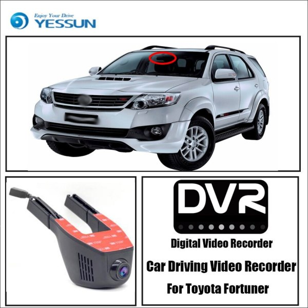 YESSUN for Toyota Fortuner Car Driving Video Recorder Mini DVR Wifi Camera Novatek 96658 FHD 1080P Dash Cam