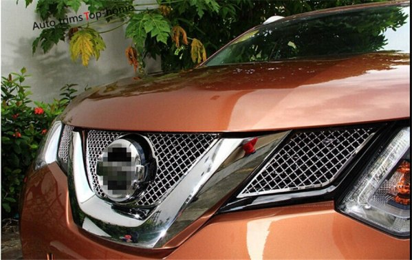 Front Grille Grill Bezel Cover Trim For Nissan X-Trail / Rogue