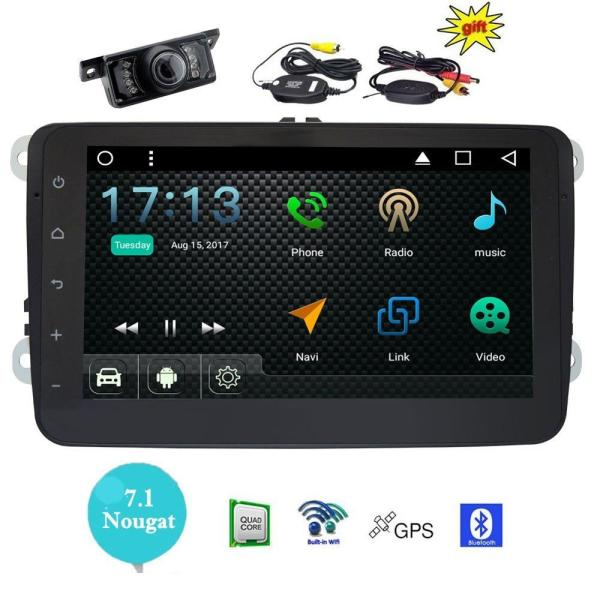 EinCar 8'' Android7.1 Radio video for VW Volkswagen Headunit Car Audio Stereo support Wifi 3G 4G Mirrorlink+Wireless Back Camera