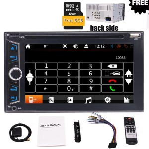 USB TF CD Card Multi Languages Light Button Car Logo Optional Wireless Backup Camera Double Din 6.2 Inch Car Stereo in Dash GPS