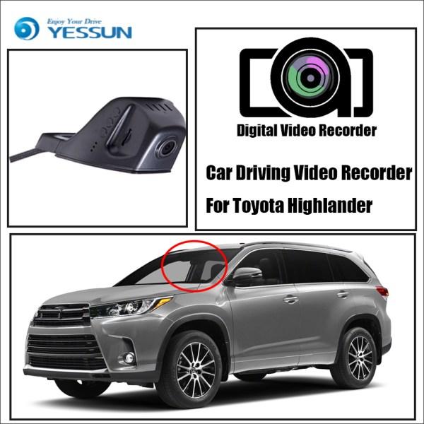 YESSUN Car DVR Digital Video Recorder Front Camera Dash HD 1080P Not Reverse Parking Camera for Toyota Highlander