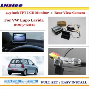 "Liislee For VW Volkswagen Lupo Lavida 2005~2011 - Car Parking Camera + 4.3"" LCD Monitor NTSC PAL = 2 in 1 Parking Rear System"