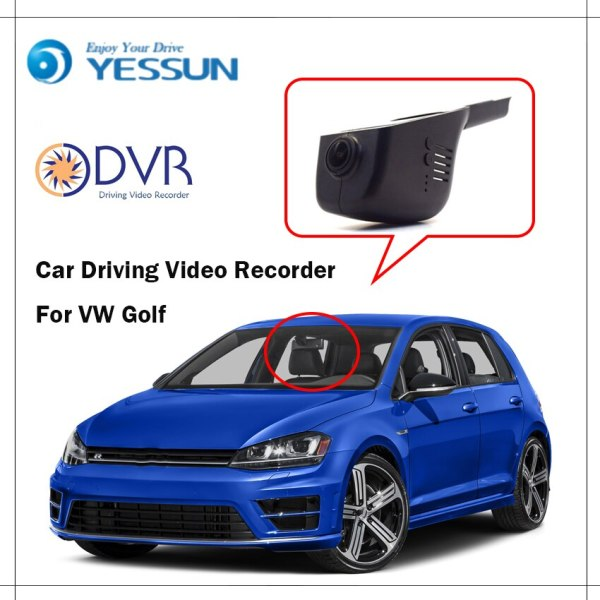 YESSUN For Volkswagen Golf Car Front Dash Camera CAM DVR Driving Video Recorder WiFi APP Car DVR Camera Video Recorder 1080p