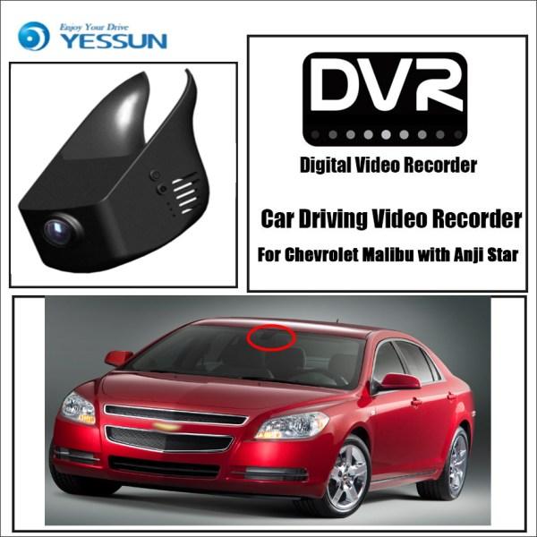YESSUN for Chevrolet Malibu with Anji Star Car DVR Driving Video Recorder Mini Control APP Wifi Camera Registrator Dash Cam