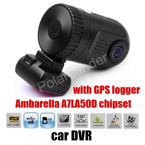DVR Camera Ambarella A7LA50D HD with GPS