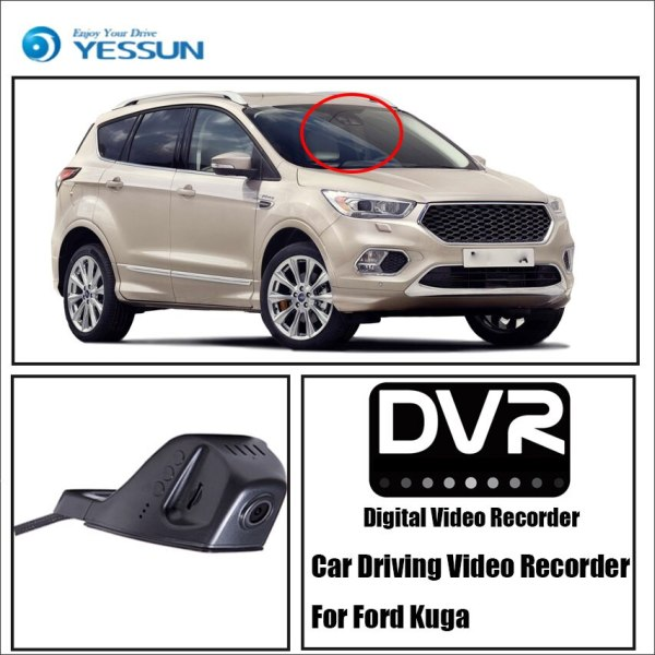 YESSUN for iPhone Android APP Control for Ford Kuga Car Front Dash Camera CAM DVR Driving Video Recorder Function