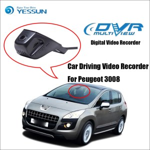 YESSUN For iPhone Android APP Control Function For Peugeot 3008 Car Front Dash Camera CAM / DVR Driving Video Recorder