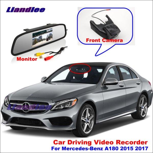 Liandlee Car DVR Front Camera Driving Video Recorder Mirror Monitor For Mercedes Benz A180 2015 2017 HD AUTO Dash Cam Antiradar