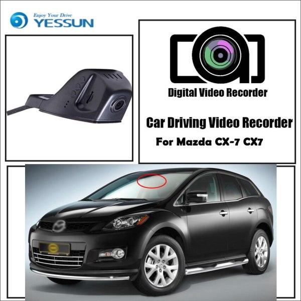 YESSUN for Mazda CX-7 CX7 Car Driving Video Recorder DVR Mini Control APP Wifi Camera Registrator Dash Cam