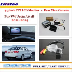 "Liislee For Volkswagen VW Jetta A6 1B 2011~2014 - Car Rear Camera + 4.3"" TFT LCD Screen Monitor = 2 in 1 Back Up Parking System"