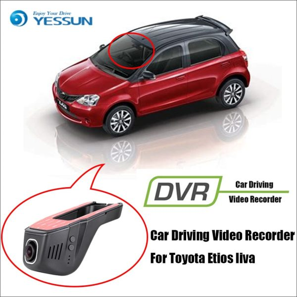 YESSUN Car DVR Driving Video Recorder Front Dash Camera HD 1080P Not Rear Back Camera for Toyota Etios liva