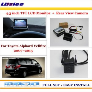 "Liislee For Toyota Alphard Vellfire 2007~2015 - Car Rear Camera + 4.3"" TFT LCD Screen Monitor = 2 in 1 Back Up Parking System"