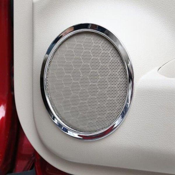 Nissan X-Trail Xtrail Rogue Chrome Door Speaker Cover Trim Sticker