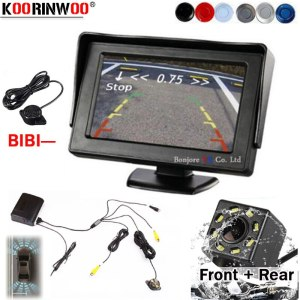 Koorinwoo Parking Sensor Universal Rear parking sensors Camera Car 8 Parktronic Dash Cam Monitor for chevrolet/captiva/bmw e5