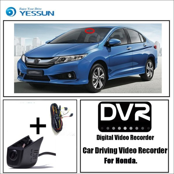 YESSUN for Honda for Acura ILX Car Driving Video Recorder DVR Mini Wifi Camera Novatek 96658 FHD 1080P Dash Cam Original Style