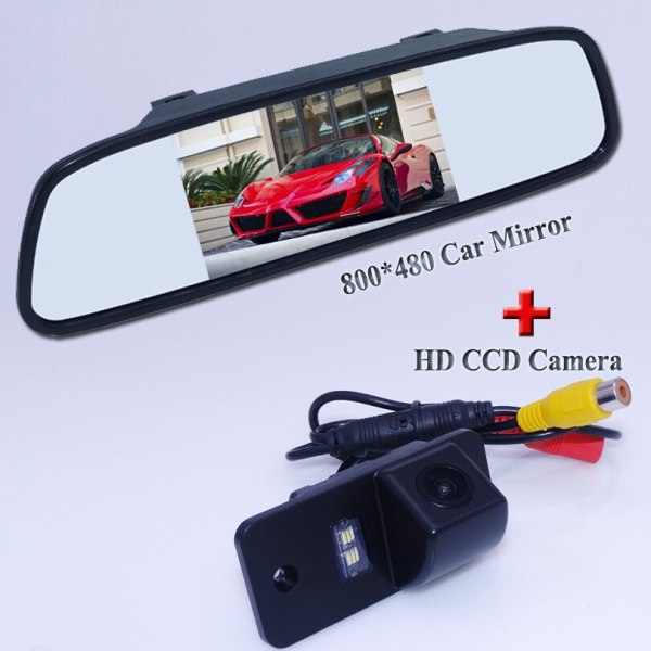 CCD HD Car Rear View Backup Camera with mirror rear view monitor for AUDI A3 S3 A4 S4 A6 A6L S6 A8 S8 RS4 RS6 Q7 free shipiing