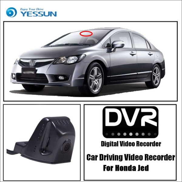 YESSUN for Honda Jade 2013~2017 Car Driving Video Recorder DVR Mini Wifi Camera Novatek 96658 FHD 1080P Dash Cam Original Style