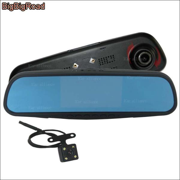 BigBigRoad Car Mirror DVR For chevrolet sail lova Video Recorder Dash Cam 5 inch Parking Monitor with Special Bracket