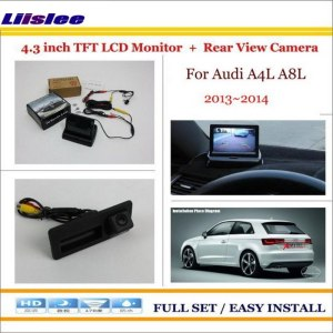 "Liislee For Audi A4L A8L 2013 2014 4.3"" TFT LCD Monitor + Car Rearview Back Up Camera = 2 in 1 Car Parking System"