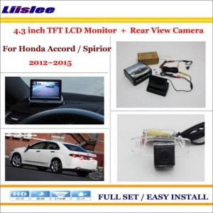 "Liislee For Honda For Accord / Spirior 2012~2015 Car Rearview Camera + 4.3"" LCD Monitor = 2 in 1 Parking Assistance System"