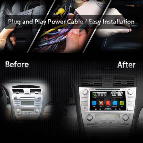 Toyota Camry Aurion 2007-2011 Reverse Camera 2Din Car In Dash DVD Player GPS Navi Radio Bluetooth Head Unit Stereos with Reverse Camera for Toyota Camry Aurion 2007-2011