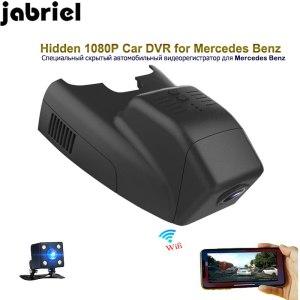 Jabriel 1080P hidden car dvr auto app control video recorder dash cam dual lens for Mercedes Benz B180 B200 B300 W245 W246 W242