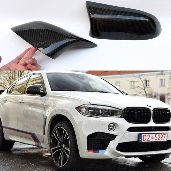 BMW X6 F16 2014-2016 Carbon Fiber Mirror Cover Trim