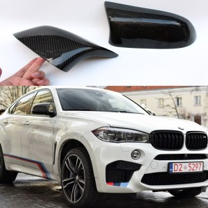 BMW X6 F16 2014-2016 Carbon Fiber Mirror Cover Trim