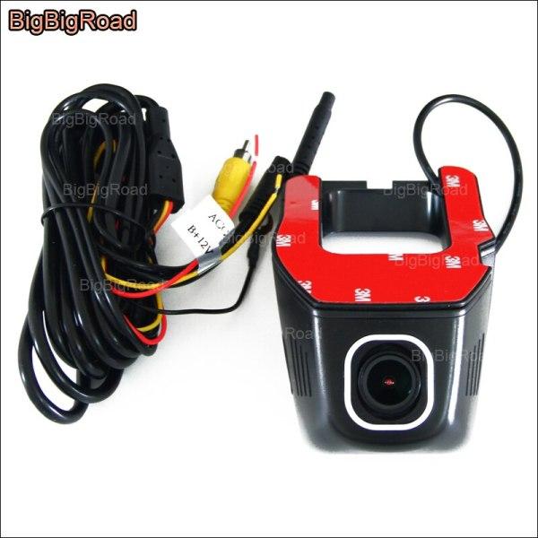 BigBigRoad For Ford F-150 APP Control Car Wifi DVR Video Recorder hidden installation Wide angle Dash Cam FHD 1080p