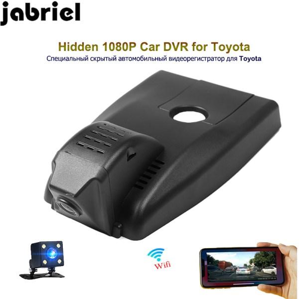 Jabriel hidden Car Camera 1080P ios/android wifi app car dvr dash cam video recorder dual lens rearview cam for Toyota IZOA 2018