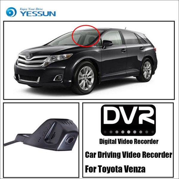 YESSUN Car DVR Digital Video Recorder For Toyota Venza HD 1080P Front Camera Dash Not Reverse Parking Camera