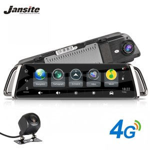Jansite 4G Dash Cam Android 5.1 Car Camera 10 inch Touch Screen GPS Navigation Car Video Recorder Bluetooth for Toyota