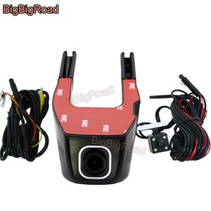 BigBigRoad For Volkswagen Caravelle t5 Tiguan magotan B6 B7 Gran Lavida Car Dash Cam Wifi DVR Dual Camera Video Recorder