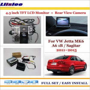 "Liislee For Volkswagen VW Jetta MK6 A6 1B / Sagitar 2011~2015 - Car Reverse Rear Camera + 4.3"" Monitor = 2 in 1 Parking System"