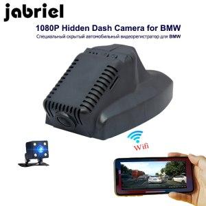 Jabriel HD 1080P Dash Cam Hidden Wifi Car DVR Video Recorder dual lens Rearview camera for BMW 2013/2014/2015 X1,Before 2015 X3