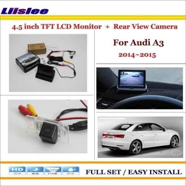 "Audi A3 2014-2015 - Car Reverse Backup Rear Camera + 4.3"" TFT LCD Screen Monitor"