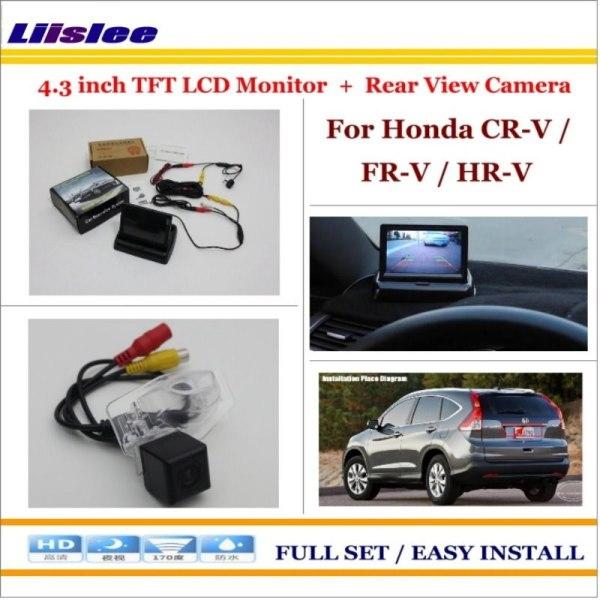 "Liislee For Honda CR-V / FR-V / HR-V Auto Rear View Camera Back Up + 4.3"" LCD Monitor = 2 in 1 Parking Assistance System"