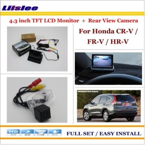 "Liislee For Honda CR-V / FR-V / HR-V Auto Rear View Camera Back Up + 4.3"" LCD Monitor = 2 in 1 Parking Assistance System"