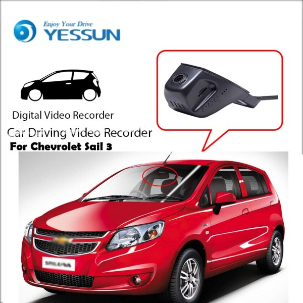 YESSUN Car Driving Video Recorder DVR Mini Control APP Wifi Camera Registrator Dash Cam for Chevrolet Sail 3