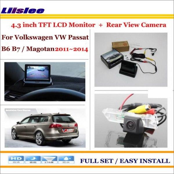 "Liislee For Volkswagen VW Passat B6 B7 / Magotan 4.3"" LCD Monitor + Car Rearview Back Up Camera = 2 in 1 Car Parking System"